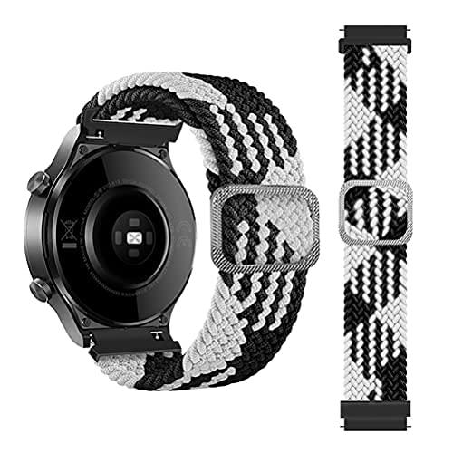 EMIOBAND Correa elástica Trenzada de 22 mm Compatible para Samsung Galaxy Watch 3 45 mm/Galaxy Watch 46 mm/Gear S3 / para Huawei Watch GT / GT2 / GT2 Pro Banda Ajustable de Nailon elástico