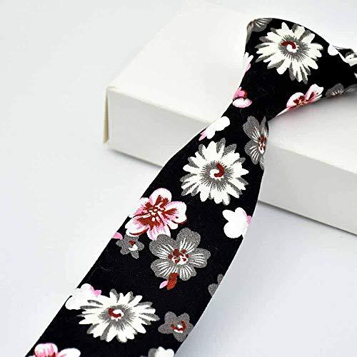 LuckyJX Männer Baumwolle Gedruckt Krawatte Mode Lässig Krawatte Bräutigam Trauzeuge 6Cm Krawatte Stil 24