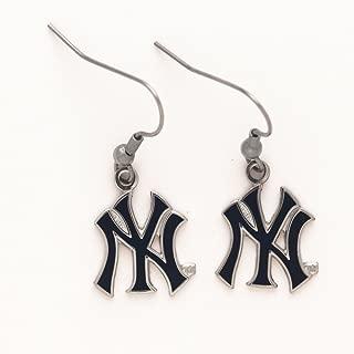 WinCraft MLB New York Yankees 53516071 Earrings Jewelry Card