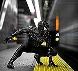 ハイクオリティ☆MARVEL マーベル ブラックスパイダーマン フルセット マスク 3D コスプレ コスチューム ハロウィン 衣装 映画{マスク一体化と マスク分式 選び自由}