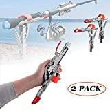 LULUME Stainless Steel Rod Stand - Automatic Spring Fishing Rod Holder - High Sensitivity - 2 Pack