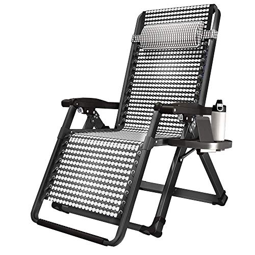 Deckchairs Deck Liegestuhl, Klapp Faul Siesta Bed Home Office Mittagspause Bett Erwachsene Back Beach Lounge Chair Tragbare 72X180Cm