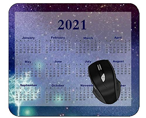 N\A 2021 Calendar Professional Mousepad Starry Sky Blue Extended Gaming Mouse Pad