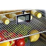 Westmark Digitales Kühlschrankthermometer, Zur Messung im Raum oder im Kühlschrank, Kunststoff/Glas, Silber/Schwarz, 52152280