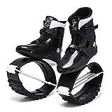 ME-Rollerns Zapatos de Salto de Canguro Zapatos de Adelgazamiento Zapatos Deportivos de Rebote Zapatos de tonificación Saltar Zapatilla de Deporte de cuña Black White EUR Size 39-41