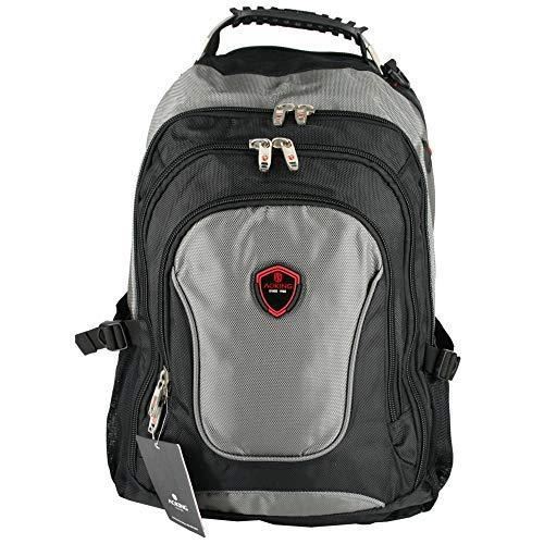 AOKING XXL Rucksack Sport Reise Wander Schule Tasche Canvas Day Back Pack Outdoor schwarz