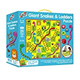 Galt America- Giant Snakes and Ladders Puzzle Toys Puzle Gigante Serpientes y Escaleras, Multicolor (Galt 1005044)