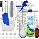 EARPROS Ear Wax Removal Tool Kit - with 25 Bio-Based Tips - Ear Cleaner Ear Washer Bottle System Ear Irrigation Ear Cleaning Ear Lavage Impacted Cerumen (BLUE)