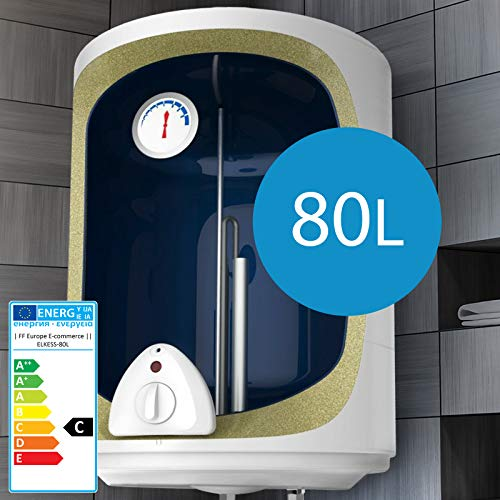 Scaldabagno elettrico - 30,50,80,100 Litri Potenza 1500W, Termostato a 75 ° C, Serbatoio in silicone - Scaldacqua, Boiler Elettrico