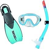 0890001AZU - Kit mascara y tubo snorkel buceo SET TRIS SPRINT MD COLOR...
