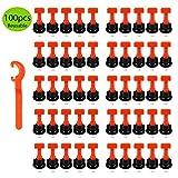 LiNKFOR 100pz Livellatrice per Piastrelle Riutilizzabile con Chiave Speciale Kit Sistema d...