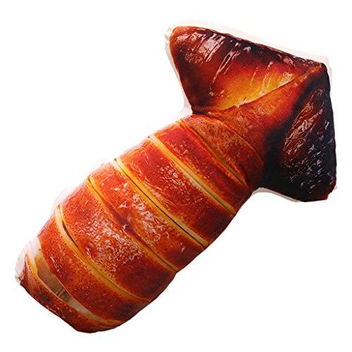 Janly Clearance Sale Funda de almohada de imitación con forma de pez de pollo suave, cojín lumbar, almohada de peluche para el día de Pascua (D)