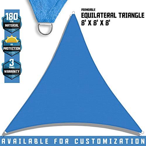 Sunshades Depot - Toldo triangular permeable, estilo vela, 180 g/m2, tamaño personalizable