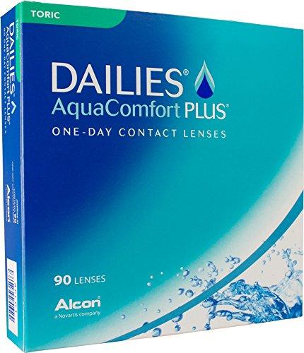 Dailies AquaComfort Plus Toric Tageslinsen weich, 90 Stück, Kontaktlinsen Tageslinsen torisch