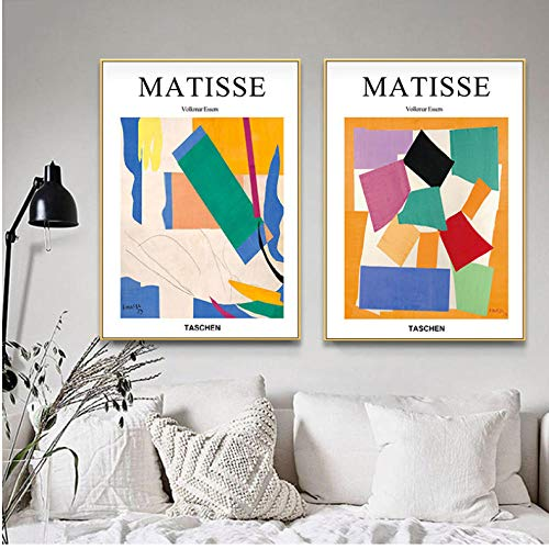 Wall Art Canvas Painting Modular Home Decor For Living Room Vogue Posters Prints Abstract Geometric Colorful Pictures 50x70cmx2 sin Marco