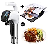 AUKUYEE Sous Vide Cooker,1000W with Sous Vide Cookbook Thermal Immersion Circulator Accurate Temperature Digital Timer BQQ01