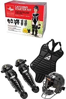 Ages 5-7 T-Ball/Coach Pitch Catching Starter Kit (Chest Protector, Shin Guards & Catcher's Mask with Throat Guard)