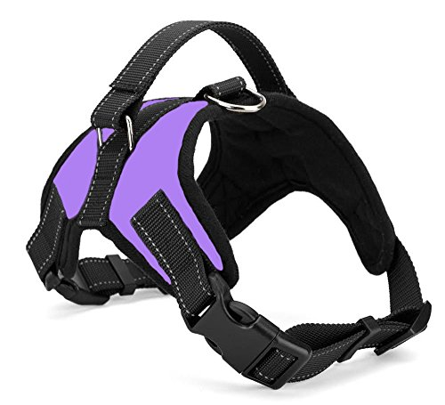Xanday No Pull Dog Vest Harness,Reflective Dog Body Padded Vest with Handle,Adjustable Dog Walking Harness Comfort Control for Small Medium Large Dogs(S, Purple)