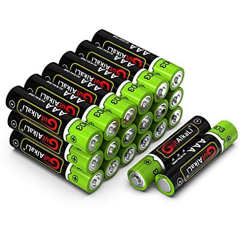 GutAlkaLi Batterien Micro Alkali, AAA,LR03, 20 Stück für Kameras, Spielecontroller, Spielzeug und Uhren