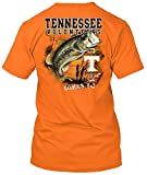 NCAA - Bass Fishing T Shirt - Multiple Universities Available - up to 2X and 3X - Officially Licensed Apparel (Tennessee Volunteers, Large)