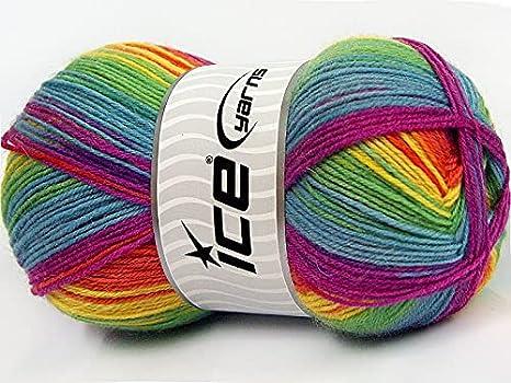 Ice Yarns Smart Rainbow Pattern Sock Yarn