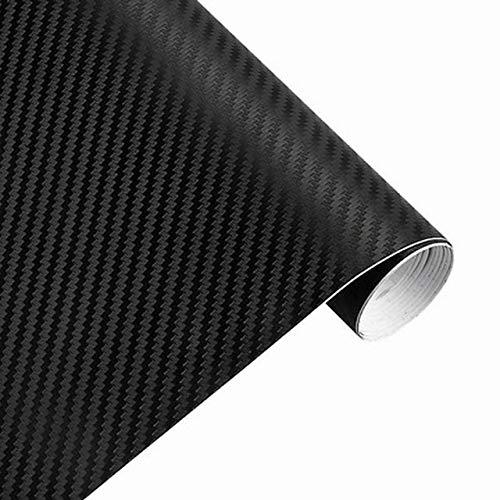 3D Sticker auto Accessori auto in fibra di carbonio vinile avvolgere Film foglio Rullo Car Decal Film Car Styling for auto Accessori for moto (Color Name : Black)