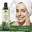 Pure Aloe Vera Gel from Fresh Cut Aloe Leaves for Natural Skin Care - 99.8% Cold Pressed Aloe - Thin Aloe Gel Formula for Skin, Face, Hair, Daily Moisturizer, Aftershave Lotion, Sunburn Relief, Burn Care - 8 ounce #1