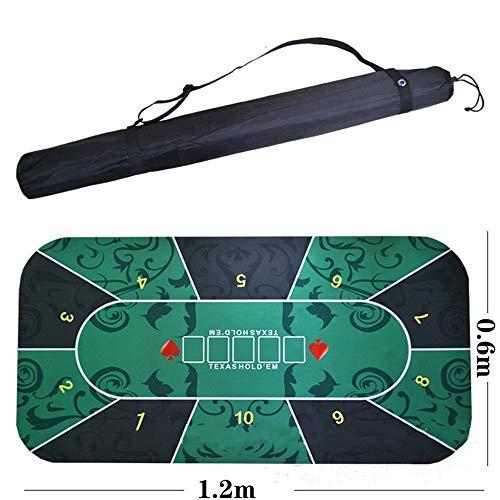 Lpinvin GA - Pokertischaufsätze in Grün, Größe 120x60cm