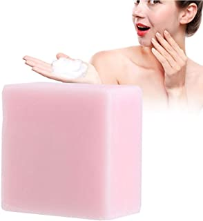Jabón facial hecho a mano, jabón de aceite esencial de rosa, elimina el aceite facial, reduce los puntos negros y el acné, disminuye las la melanina, mejora la elasticidad de la piel.