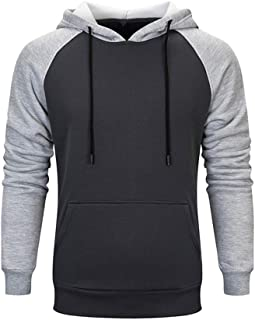 Autumn and Winter Tops Fashion Trend Casual Stitching Couple Hooded Sweater