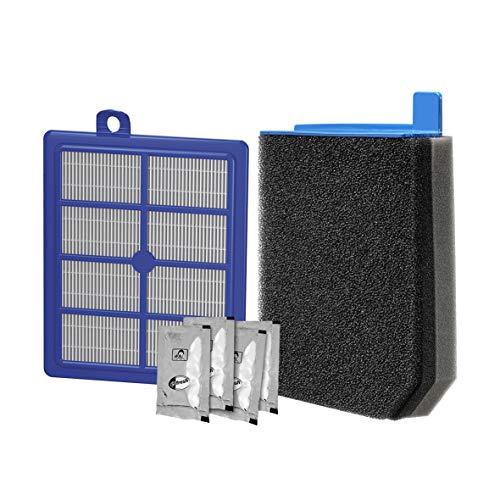 Electrolux ESKC9 Performance Kit für PUREC9 (1 Allergy Plus Filter, 1 3D Feinstaubfilter, waschbar, 4er Pack s-Fresh Duftgranulat Zitrusfrüchte, verbesserte Saugleistung, passgenau, blau/grau)