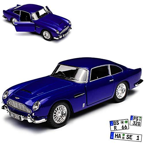 Kinsmart Aston Marton DB5 Coupe Blau James Bond 007 Goldfinger 1963-1965 ca 1/43 1/38 Modell Auto