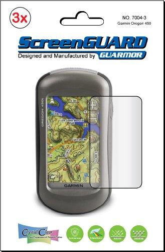 3 x Garmin Oregon 450 450t 550 550t 400t 400 I 400c 400 300 200 GPS de pantallas para Protector para pantalla de Protector de pantalla (el paquete de GUARMOR)