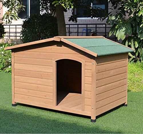 Massief houten hondenhok buiten waterdicht en anticorrosief zonnescherm Middelgrote hondenkatten Villavilla Vier seizoenen kennel