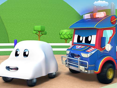 Super Polizei Truck jagt den Geist! / Recycling lernen mit SuperTruck / Kind versteckt sich! / Traktor unterrichtet Biologie an Schule.