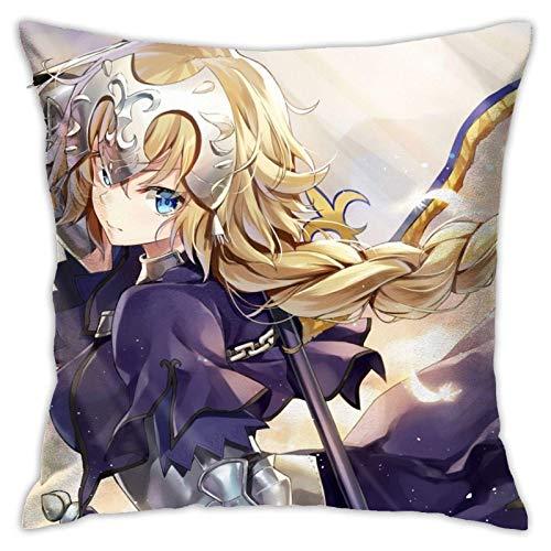 xiancheng Jeanne D'Arc - Funda de almohada cuadrada para sofá, doble cara