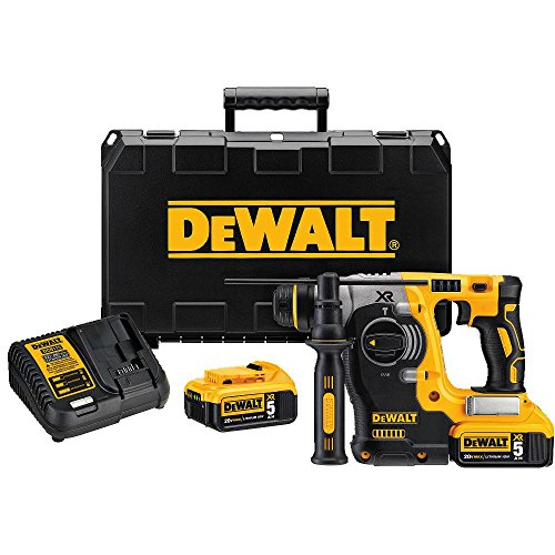 DEWALT 20V MAX SDS Rotary Hammer Drill Kit, 5-Ah Batteries (DCH273P2)