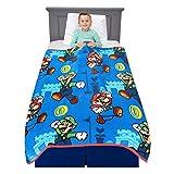Franco Kids Bedding Super Soft Plush Throw Blanket, 46' x 60', Mario
