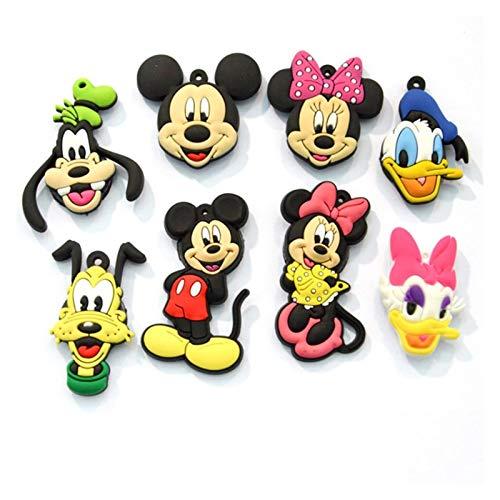 JSJJAYH Imán para nevera con diseño de Mickey Mouse con dibujos animados para nevera, imán para decoración del hogar, accesorios para nevera, retrato de animales, necesidades diarias (color: 8 piezas)