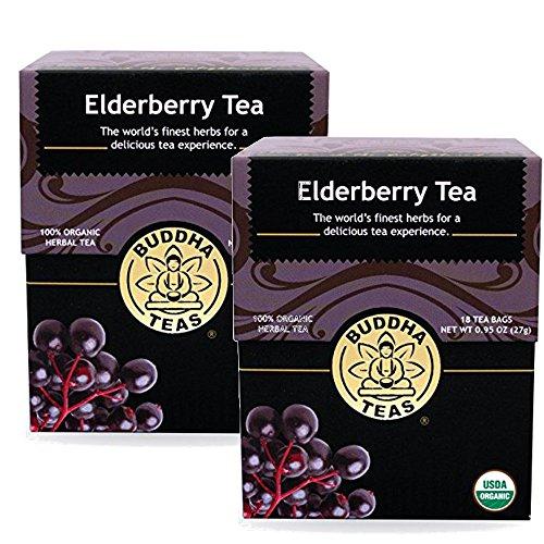 Elderberry Tea - Organic Herbs - (2 Pack) 36 Bleach Free Tea Bags
