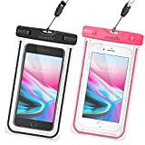 Smartlle Waterproof Phone Pouch, Universal Waterproof Phone case, Dry Bag Outdoor Beach Bag for iPhone 11/11 Pro/11 Pro Max/XR/XS Max/X/8 7 6S Plus, Samsung Galaxy, LG, for All Phones, Luminous-2 Pack