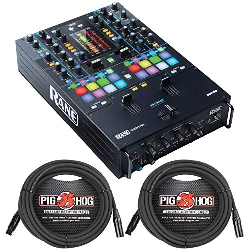 Best Review Of Rane Seventy Two Pro 2 Channel Touch Screen DJ Mixer w/ 2 20' PigHog XLR Cables