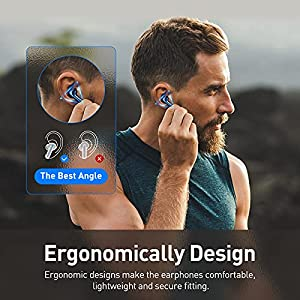 Baseus True Wireless Earbuds Bluetooth Headphones ANC, Active Noise Cancelling 4-Mics ENC Call Noise Cancelling Bluetooth 5.2 Waterproof in-Ear Earphones with Deep Bass for Business & Sports