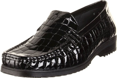 ara Women's Penny Loafer,Black Croco,5 M US