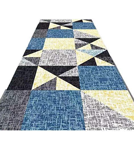 ditan XIAWU WT Kann Den Teppich Für Den Hauseingang Schneiden Gang Gang Treppe rutschfest (Color : Blueb, Size : 60x250cm)