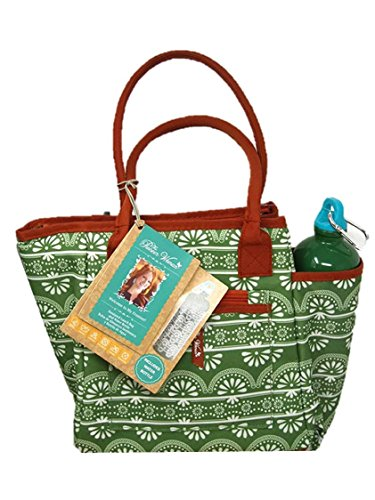 Pioneer Woman Insulated Lunch Bag with Water Bottle, Nan pattern