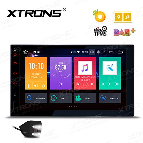 XTRONS 7 Inch Android Auto Car Stereo Radio Player Octa Core 4G RAM 32G ROM HD Digital Multi-Touch Screen Car Stereo GPS Radio OBD2 TPMS Double 2 Din with Reversing Camera