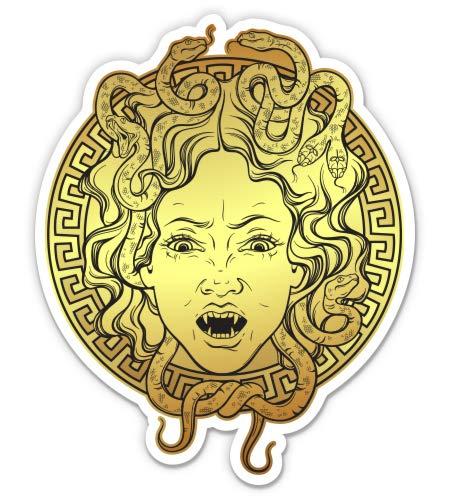 GT Graphics Express Medusa Greek Mythology - 3' Vinyl Sticker - for Car Laptop I-Pad Phone Helmet Hard Hat - Waterproof Decal