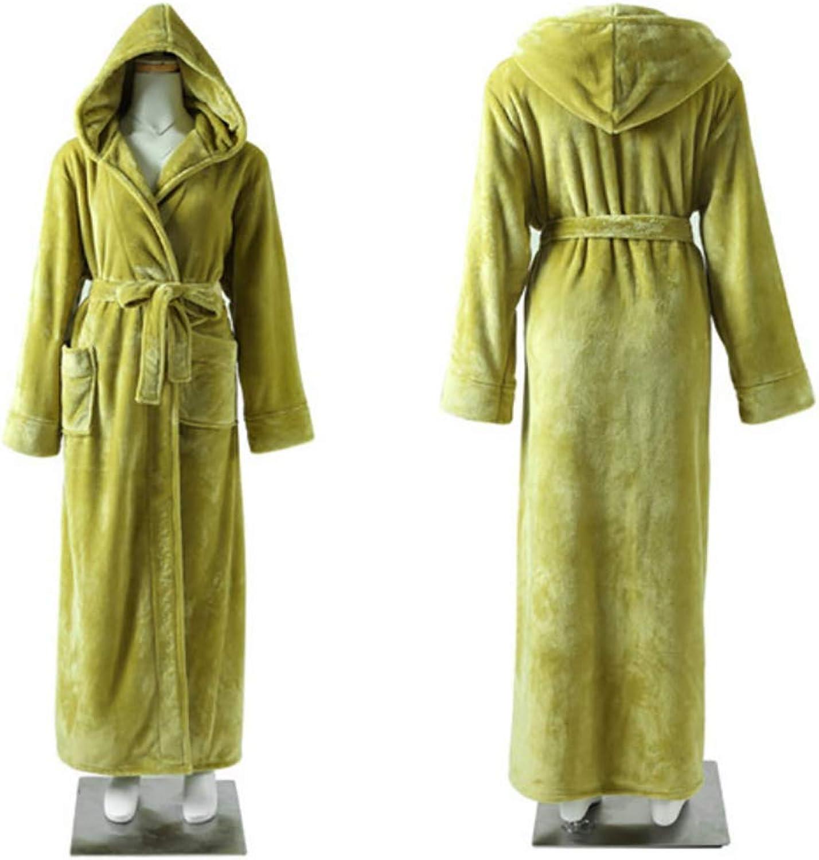 Hooded Women's Soft Spa Long Bathrobe, Comfortable Full Length Warm Pajamas