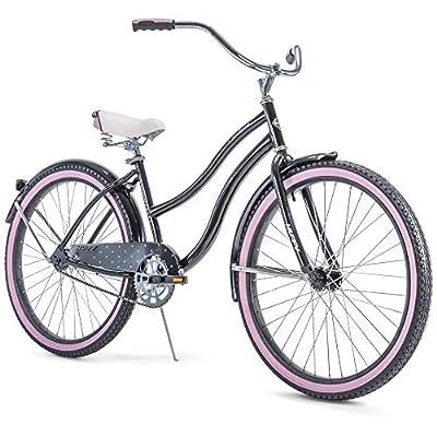 "Huffy 26"" Cranbrook Women's Cruiser Bike - Black/Pink"